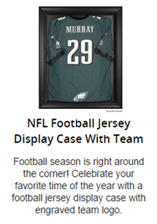 NFL Football Jersey Display Case With Logo Option