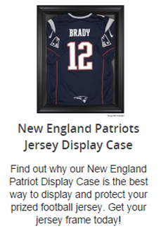 New England Patriots Jersey Display Case