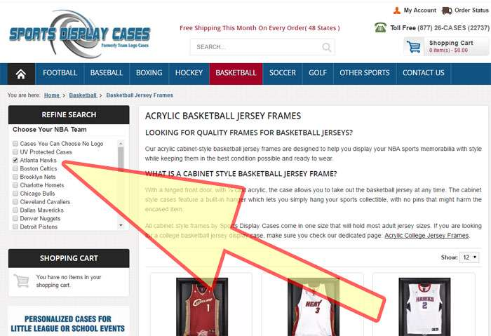 Basketball Jersey Display Cases | SportsDisplayCases.Com